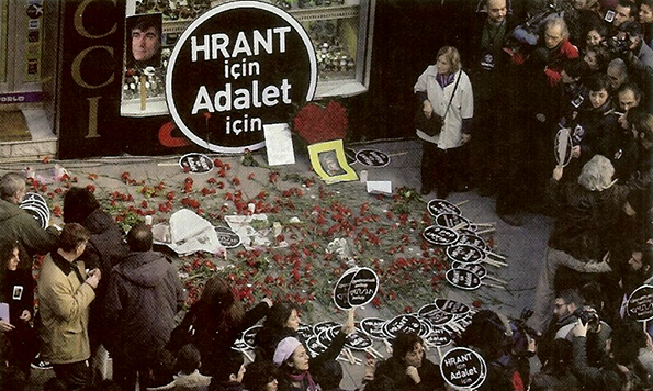 Le deuxième anniversaire de l'assassinat du journaliste arménien Hrant Dink