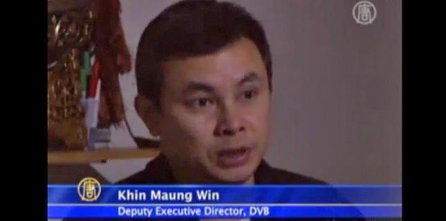 Khin Maung Soe est directeur de la rédaction de la chaîne de télévision DVB (Democratic Voice of Burma). Il a été prisonnier politique pendant 4 ans de 1992 à 1996. (Capture de You Tube)