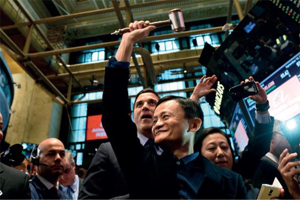 Ce fameux 19 septembre, Jack Ma ouvre la séance au New York Stock Exchange