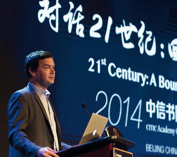 Le Pr Piketty donne une lecture du « Capital au XXIe siècle » dans un cinq-étoiles de Pékin , le 15 novembre. Face à lui, un millier de personnes.