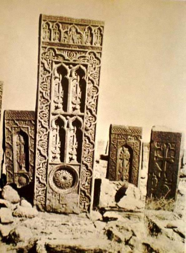 Vue partielle du cimetière de Djoulfa avant sa destruction