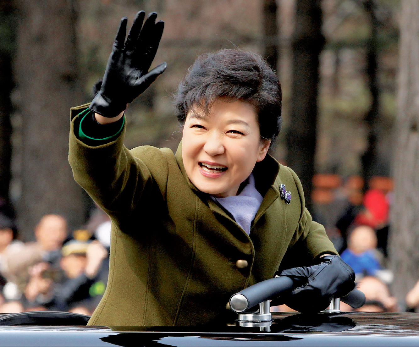 Park Geun-hye, à Séoul, le 25 février, jour de la cérémonie de son investiture