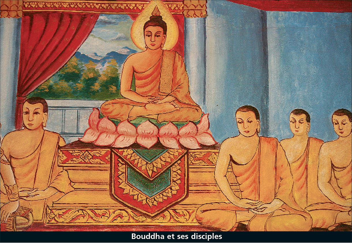 bouddha et ses disciples