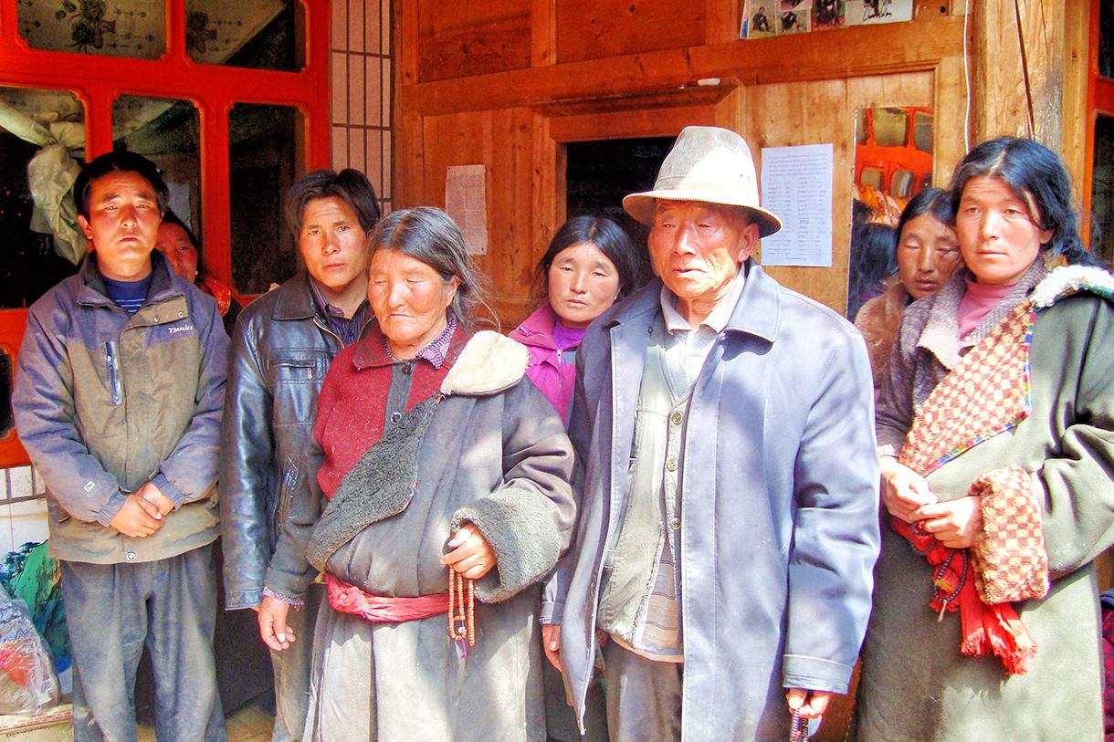 Les parents de Sonam Dargye et ses frères et sœurs à Shabrang