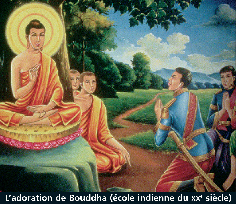 l'adoration de Bouddha