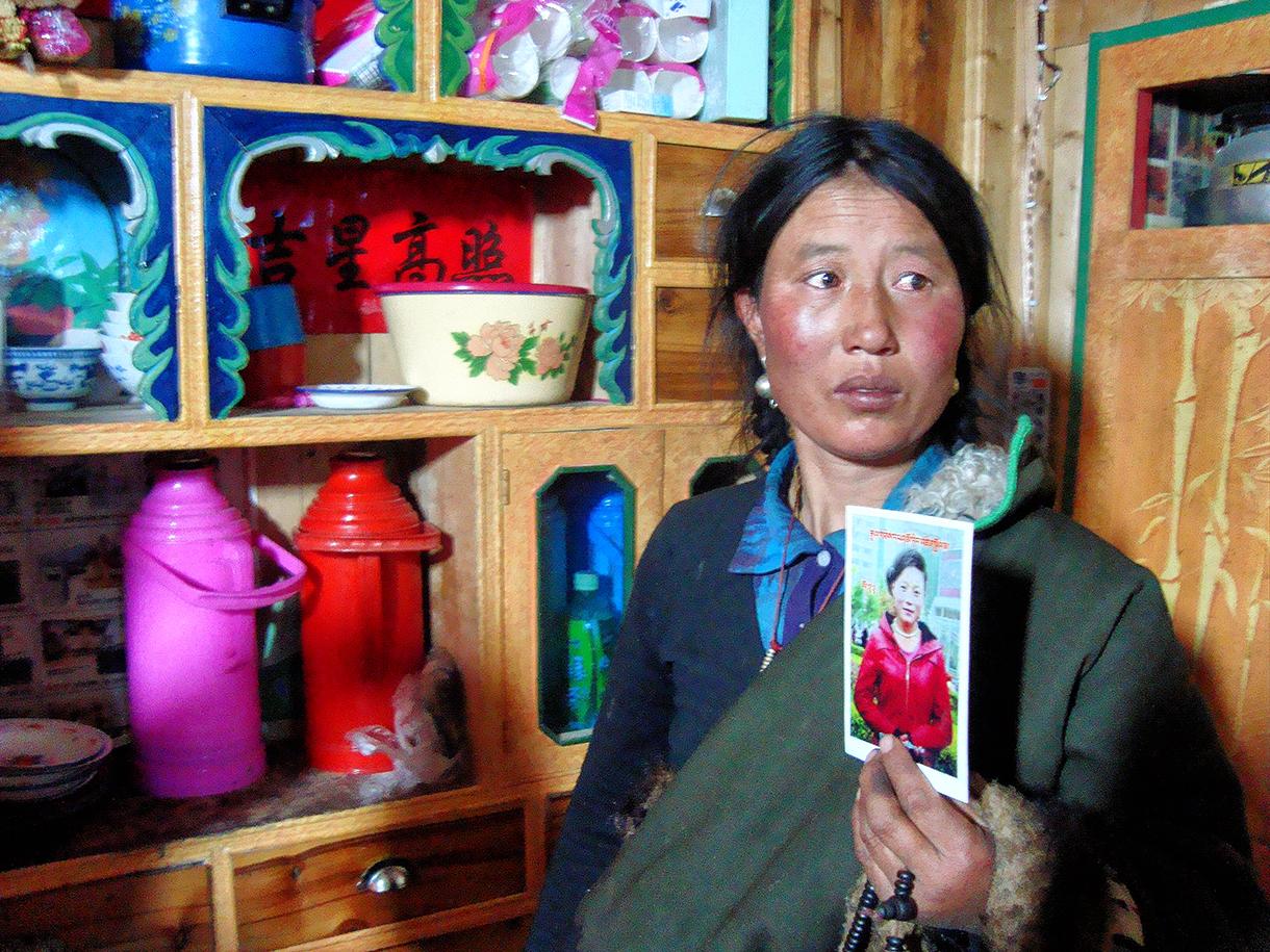 La mère de Tangzin Dolma a fait vœu de silence