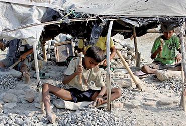 Jeunes réfugiés bhoutanais dans le camp de Timai au Népal