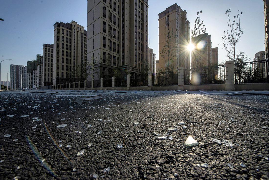 Le chantier de la nouvelle résidence de Zhang Lin. (Liu Bowen)