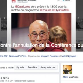 Dalaï-lama : les étudiants contre l'autocensure de Sciences Po