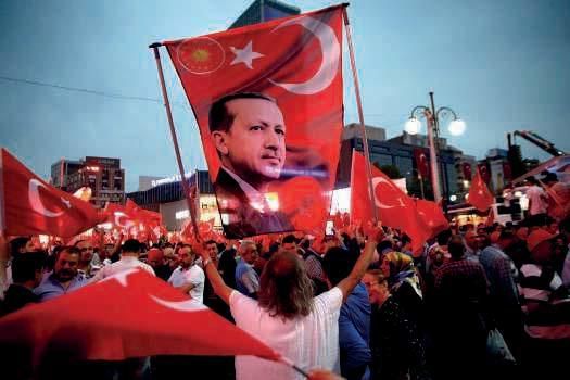 Manifestation de soutien après le putsch avorté, le 20 juillet à Ankara