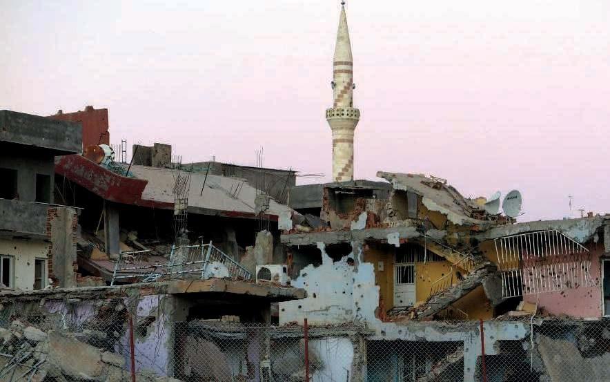 La ville de Nusaybin, à majorité kurde, en octobre 2016. Elle est bombardée par l'armée turque depuis mai