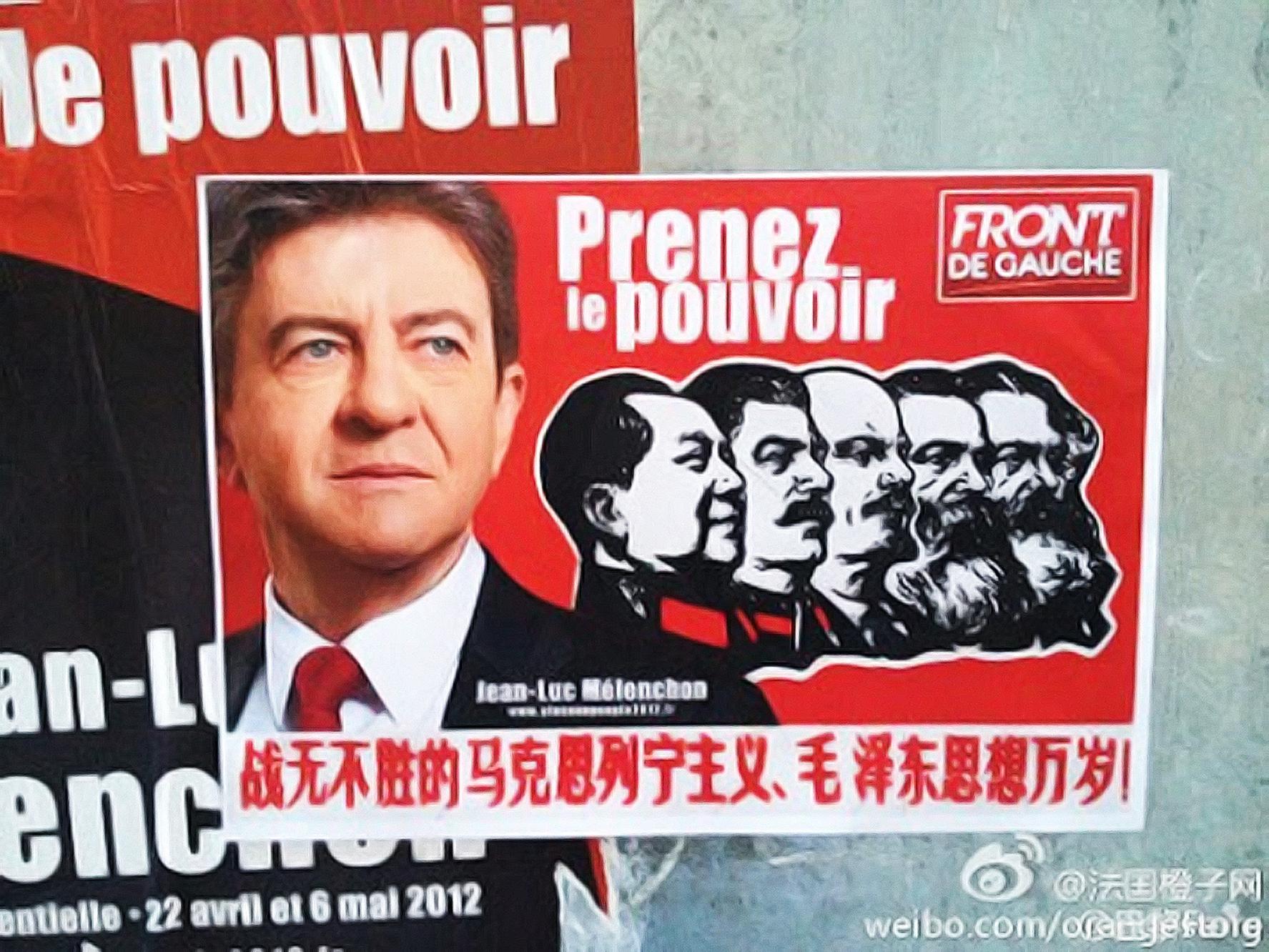 Sur le web, la galaxie de la mouvance Mao-nostalgique salue avec enthousiasme «le candidat maoïste à la présidence française».